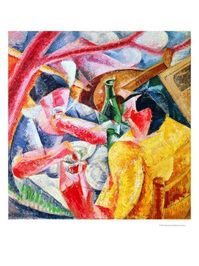 Under the Pergola at Naples, 1914-Umberto Boccioni-Giclee Print