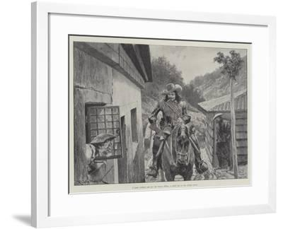 Under the Red Robe-Richard Caton Woodville II-Framed Giclee Print