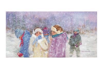 Under the Snow Flakes-H?l?ne L?veill?e-Art Print