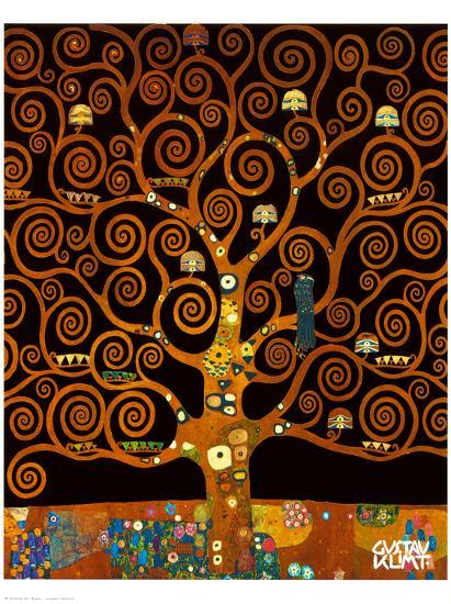 Under the Tree of Life-Gustav Klimt-Premium Giclee Print