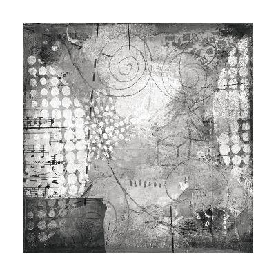 Under the Tree Square I BW-Cheryl Warrick-Art Print