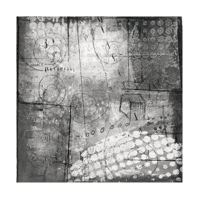 Under the Tree Square III BW-Cheryl Warrick-Art Print