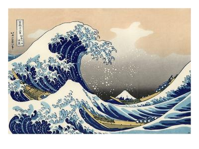 Under the Wave Off Kanagawa-Katsushika Hokusai-Giclee Print