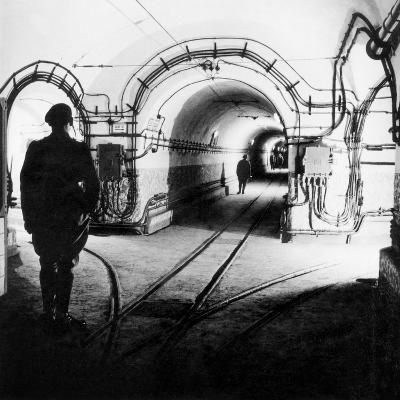 Underground Galleries in Line Maginot (France) 1939-1940--Photo