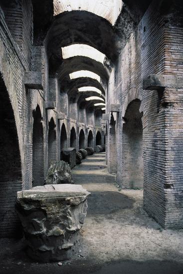Underground Passageways of Flavian Amphitheatre, Pozzuoli, Campania, Italy--Giclee Print