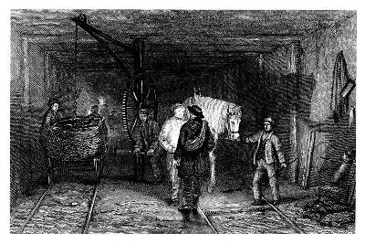 Underground Scene in a Coal Mine, 1860--Giclee Print