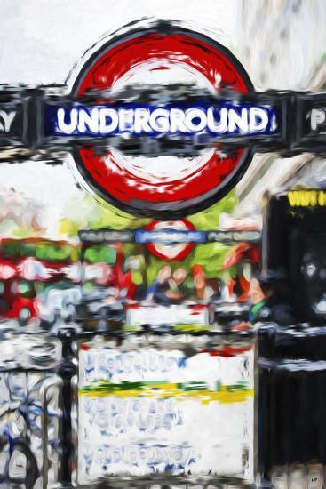 Underground Sign - In the Style of Oil Painting-Philippe Hugonnard-Giclee Print