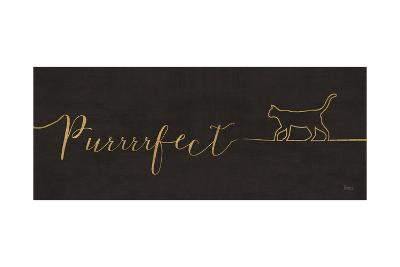 Underlined Cats I Black-Veronique Charron-Art Print
