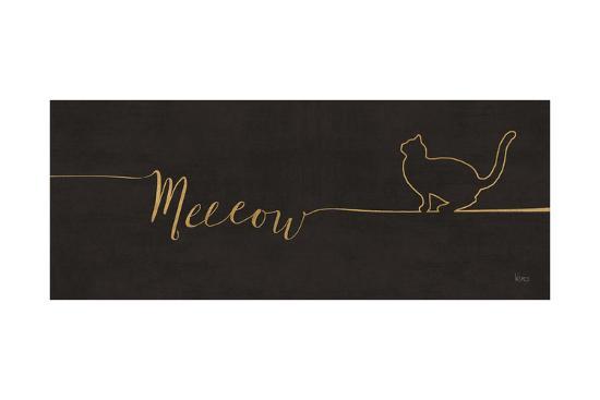 Underlined Cats III Black-Veronique Charron-Art Print