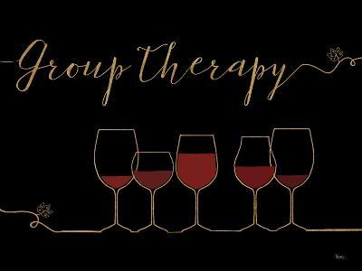 Underlined Wine IX Black-Veronique Charron-Art Print