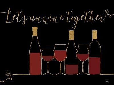 Underlined Wine X Black-Veronique Charron-Art Print
