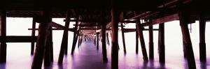 Underneath view of San Clemente Pier, San Clemente, Orange County, California, USA