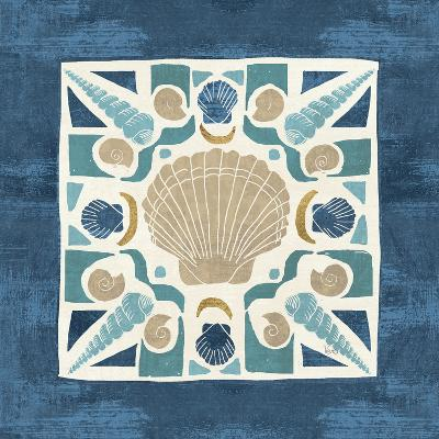 Undersea Blue Tile II-Veronique Charron-Art Print