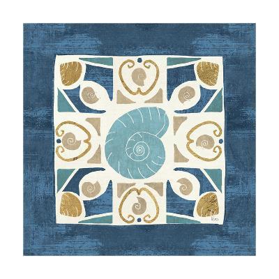 Undersea Blue Tile IV-Veronique Charron-Art Print