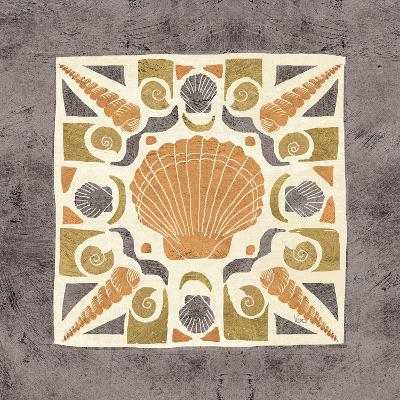 Undersea Gold Tile II-Veronique Charron-Art Print