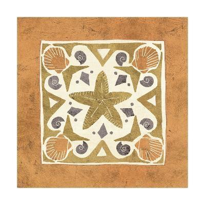 Undersea Gold Tile III-Veronique Charron-Art Print