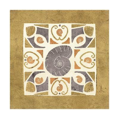 Undersea Gold Tile IV-Veronique Charron-Art Print