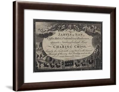 Undertakers, Jarvis and Son, Trade Card--Framed Giclee Print