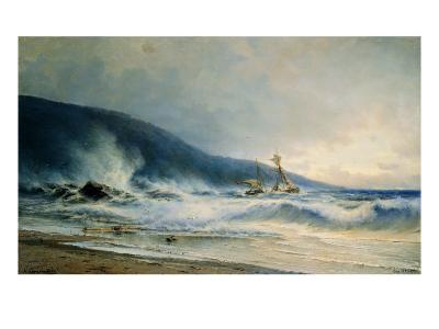 Undertow Near Cap Saint Martin--Giclee Print