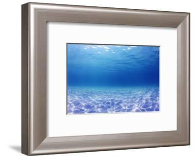 Underwater Background in the Sea-Rich Carey-Framed Photographic Print