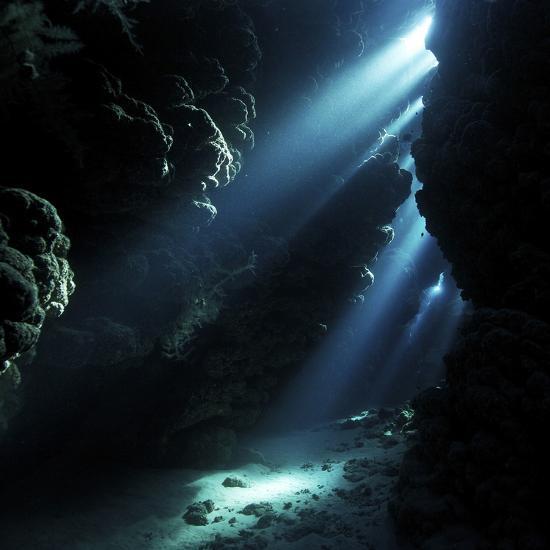 Underwater Cave-Alexander Semenov-Premium Photographic Print