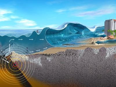 Underwater Earthquake And Tsunami-Jose Antonio-Photographic Print