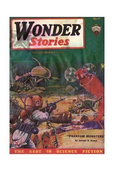 Underwater Monsters-Frank R Paul-Giclee Print