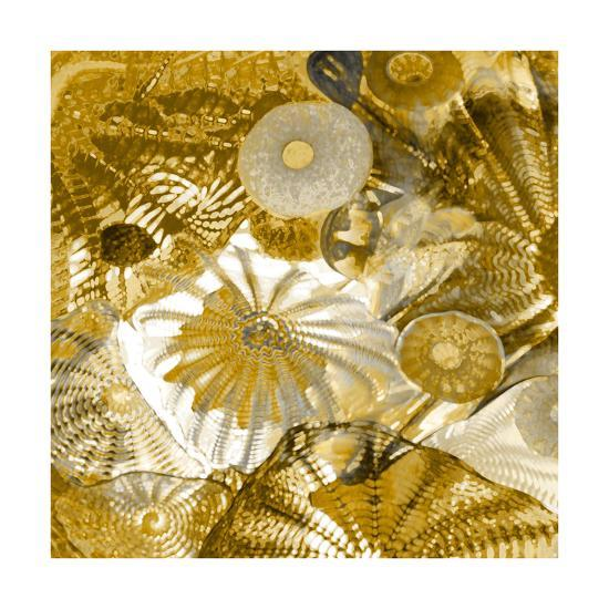 Underwater Perspective in Gold-Charlie Carter-Giclee Print