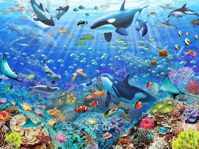 Underwater Scene-Adrian Chesterman-Art Print