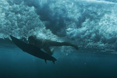 Underwater View of a Surfer in Waipi'O Bay-Chris Bickford-Photographic Print