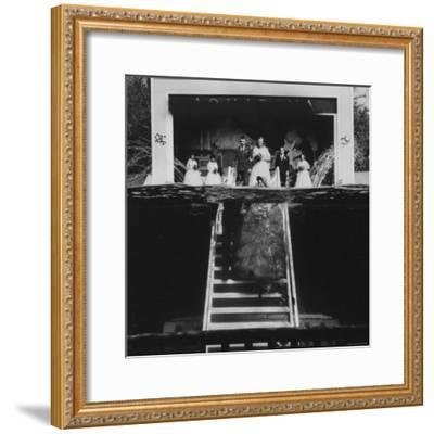 Underwater Wedding, with Bob Smith and His Soon to Be Wife Mary Beth Sanger-John Dominis-Framed Photographic Print