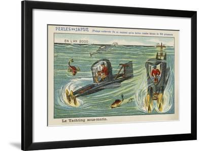 Underwater Yachting in the Year 2000--Framed Giclee Print