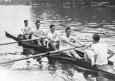 Eight man rowing by Underwood