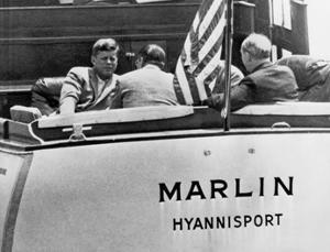 John Kennedy sailing by Underwood