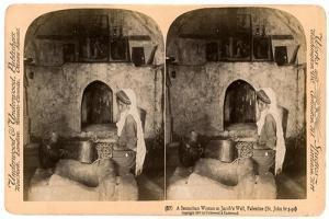 A Samaritan Woman at Jacob's Well, Palestine, 1900 by Underwood & Underwood