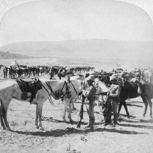 Australian Mounted Rifles after a Skirmish at the Modder River, South Africa, January 1900 by Underwood & Underwood