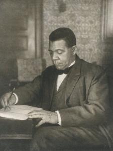 Booker T Washington American Educator Born a Slave by Underwood & Underwood