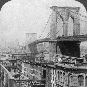 Brooklyn Bridge, New York, USA, 1901 by Underwood & Underwood