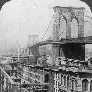 Brooklyn Bridge, New York, USA, 1901 by Underwood & Underwood