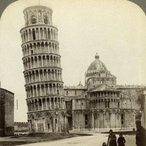 Cathedral and Leaning Tower of Pisa, Italy by Underwood & Underwood