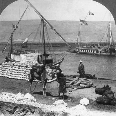 Dahabiyehs on the River Ready for a Nile Voyage, Egypt, 1905
