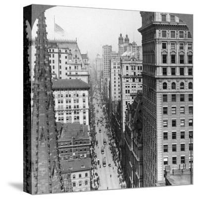 From the Empire Building Past Trinity Church Up Broadway, 1902
