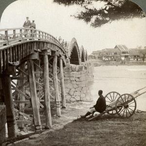 Kintai Bridge over the Nishiki River at Iwakuni, Looking North, Japan, 1904 by Underwood & Underwood