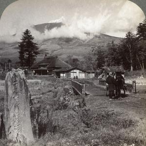 Mount Asama (Asamayam), Japan's Largest Active Volcano, Northwest from Katsukake, 1904 by Underwood & Underwood