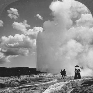 Old Faithful Geyser, Yellowstone National Park, USA, Early 19th Century by Underwood & Underwood