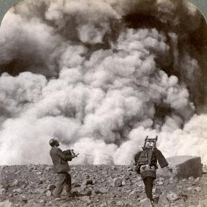 Sudden Volcanic Explosion in the Crater of Mount Asama (Asamayam), Japan, 1904 by Underwood & Underwood