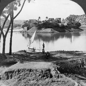 The Island of Philae, Egypt, 1905 by Underwood & Underwood
