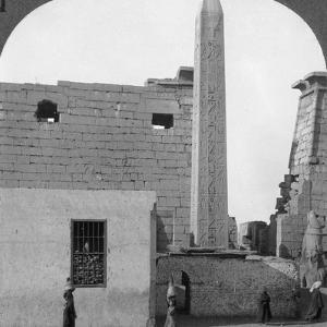 The Obelisk of Rameses II and Front of Luxor Temple, Thebes, Egypt, 1905 by Underwood & Underwood