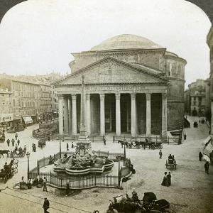 The Pantheon and the Piazza Della Rotunda, Rome, Italy by Underwood & Underwood