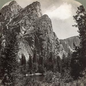 The Three Brothers, Yosemite Valley, California, USA, 1902 by Underwood & Underwood